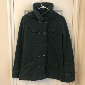 Hurley Detachable Hood Pea Coat